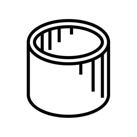 well rings concrete line icon vector. well rings concrete sign. isolated contour symbol black illustration