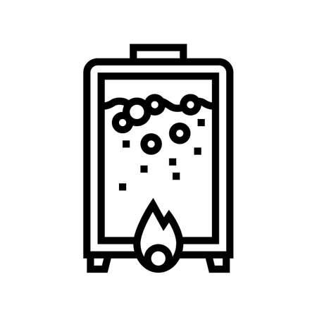 heating pharmaceutical production line icon vector. heating pharmaceutical production sign. isolated contour symbol black illustration
