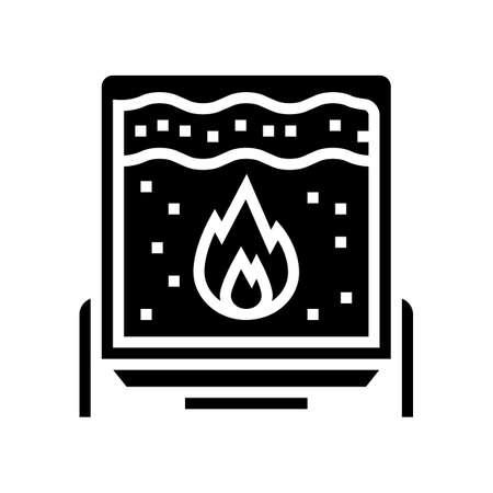 scalding cheese equipment glyph icon vector. scalding cheese equipment sign. isolated contour symbol black illustration