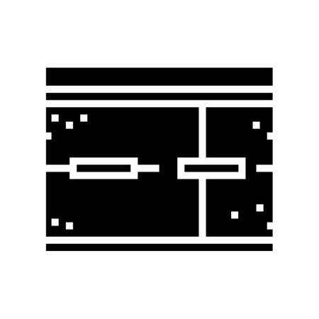 road concrete glyph icon vector. road concrete sign. isolated contour symbol black illustration