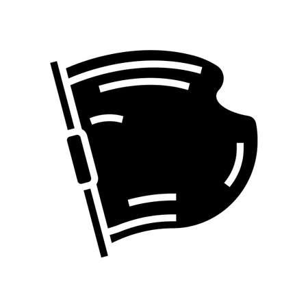 concrete building material glyph icon vector. concrete building material sign. isolated contour symbol black illustration