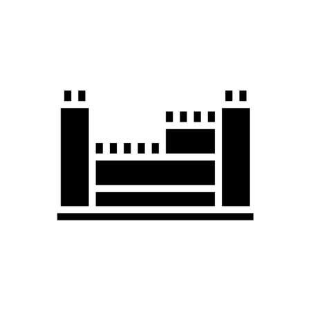 structure with reinforcement concrete glyph icon vector. structure with reinforcement concrete sign. isolated contour symbol black illustration