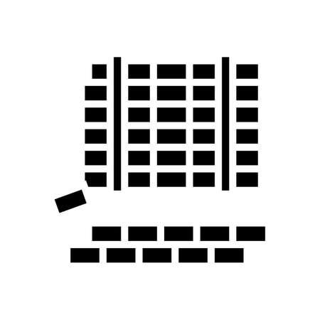 paving slabs concrete glyph icon vector. paving slabs concrete sign. isolated contour symbol black illustration