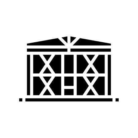 production facility concrete glyph icon vector. production facility concrete sign. isolated contour symbol black illustration