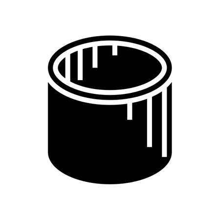 well rings concrete glyph icon vector. well rings concrete sign. isolated contour symbol black illustration