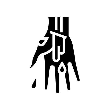 venous bleeding disease glyph icon vector. venous bleeding disease sign. isolated contour symbol black illustration