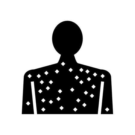 skin rash disease glyph icon vector. skin rash disease sign. isolated contour symbol black illustration 向量圖像