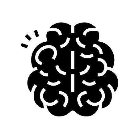 stroke brain disease glyph icon vector. stroke brain disease sign. isolated contour symbol black illustration