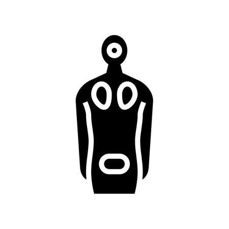decubitus ulcers disease glyph icon vector. decubitus ulcers disease sign. isolated contour symbol black illustration