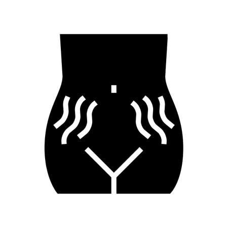 stretch marks on skin disease glyph icon vector. stretch marks on skin disease sign. isolated contour symbol black illustration