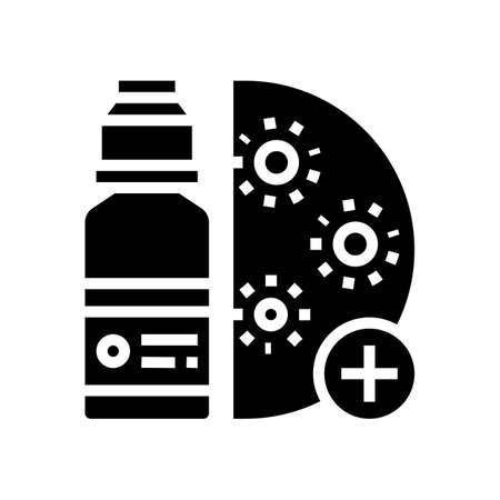 drugs infection treatment glyph icon vector. drugs infection treatment sign. isolated contour symbol black illustration