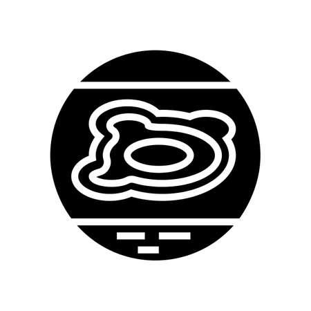 neurodermatitis eczema glyph icon vector. neurodermatitis eczema sign. isolated contour symbol black illustration