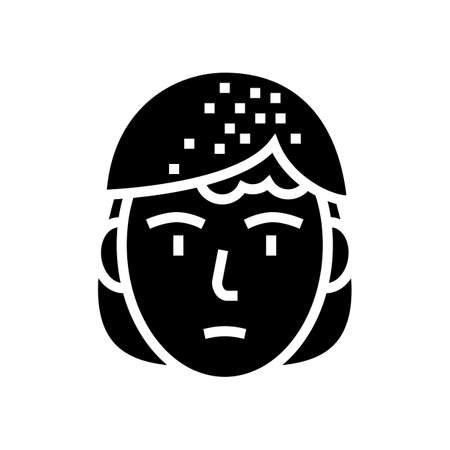 seborrheic dermatitis glyph icon vector. seborrheic dermatitis sign. isolated contour symbol black illustration 向量圖像