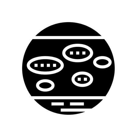 nummular eczema glyph icon vector. nummular eczema sign. isolated contour symbol black illustration 向量圖像
