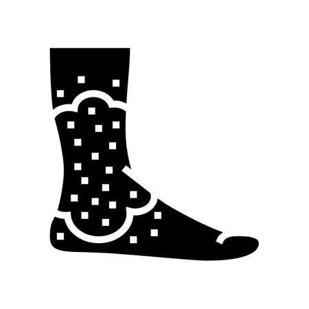 stasis dermatitis glyph icon vector. stasis dermatitis sign. isolated contour symbol black illustration