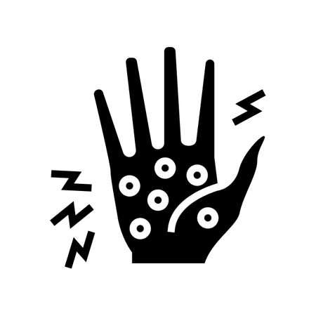 dyshidrotic eczema glyph icon vector. dyshidrotic eczema sign. isolated contour symbol black illustration