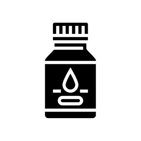 syrup pharmaceutical production glyph icon vector. syrup pharmaceutical production sign. isolated contour symbol black illustration
