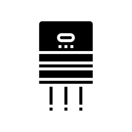 semiconductor production glyph icon vector. semiconductor production sign. isolated contour symbol black illustration 向量圖像