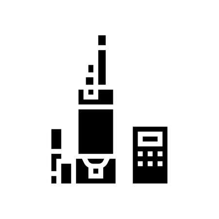 digital equipment semiconductor manufacturing glyph icon vector. digital equipment semiconductor manufacturing sign. isolated contour symbol black illustration 向量圖像