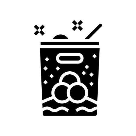 ice cream leisure glyph icon vector. ice cream leisure sign. isolated contour symbol black illustration