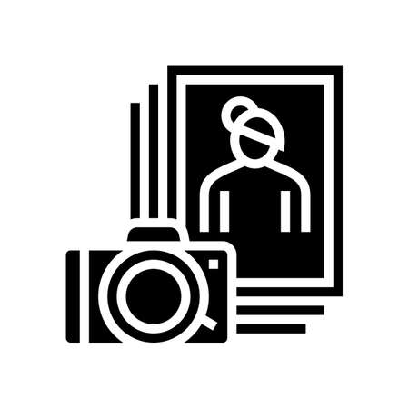 photo leisure glyph icon vector. photo leisure sign. isolated contour symbol black illustration