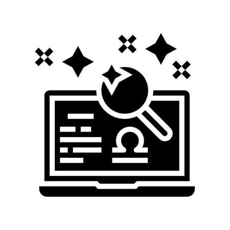 horoscope leisure glyph icon vector. horoscope leisure sign. isolated contour symbol black illustration