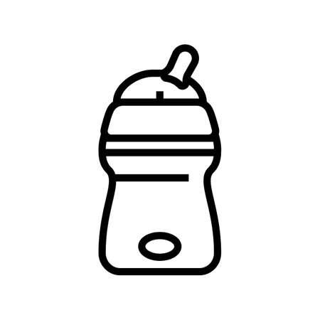 bottle for artificial feeding baby line icon vector. bottle for artificial feeding baby sign. isolated contour symbol black illustration