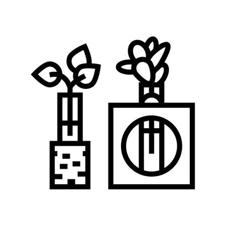 integration station line icon vector. integration station sign. isolated contour symbol black illustration