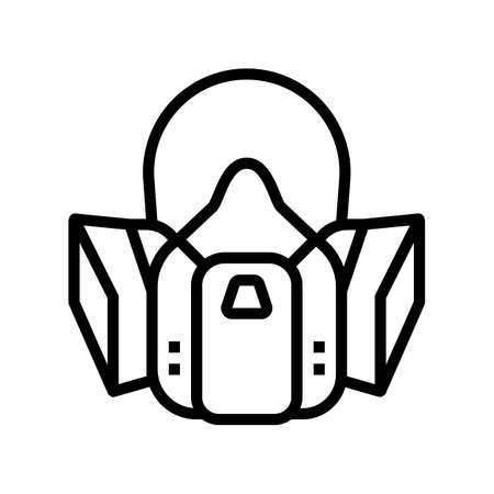 respirator protection from smoke line icon vector. respirator protection from smoke sign. isolated contour symbol black illustration