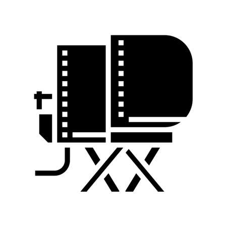 airplane simulator flight school glyph icon vector. airplane simulator flight school sign. isolated contour symbol black illustration
