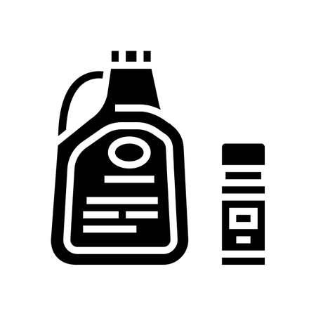 liquid for care house plant glyph icon vector. liquid for care house plant sign. isolated contour symbol black illustration