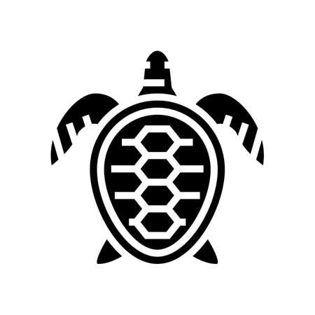 turtle ocean glyph icon vector. turtle ocean sign. isolated contour symbol black illustration