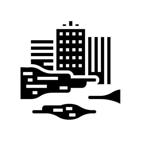 urban smog smoke glyph icon vector. urban smog smoke sign. isolated contour symbol black illustration