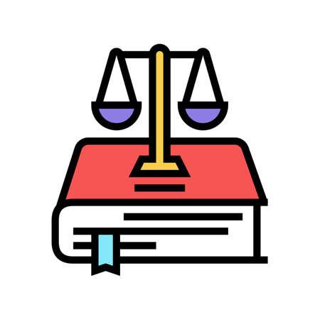 constitution law color icon vector. constitution law sign. isolated symbol illustration Vektoros illusztráció