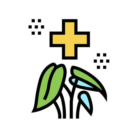 healthcare phytotherapy color icon vector. healthcare phytotherapy sign. isolated symbol illustration
