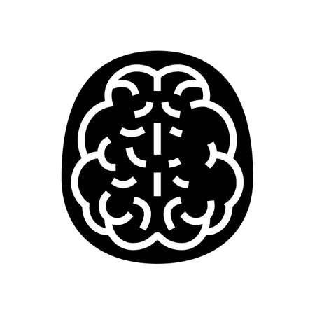 mind health problem glyph icon vector. mind health problem sign. isolated contour symbol black illustration
