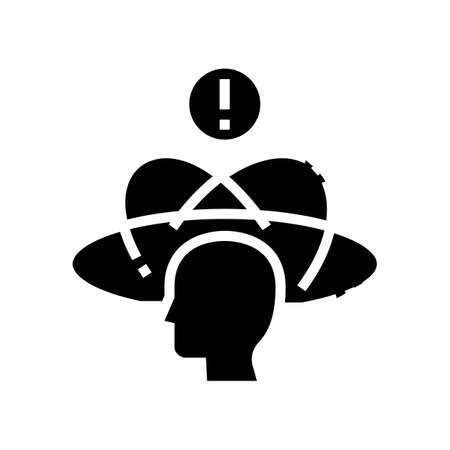 dizziness disease glyph icon vector. dizziness disease sign. isolated contour symbol black illustration