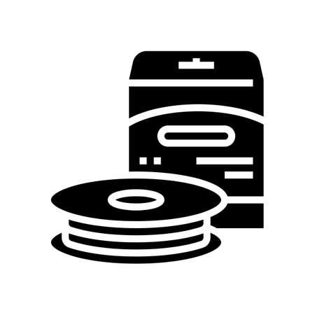 monofilament line glyph icon vector. monofilament line sign. isolated contour symbol black illustration