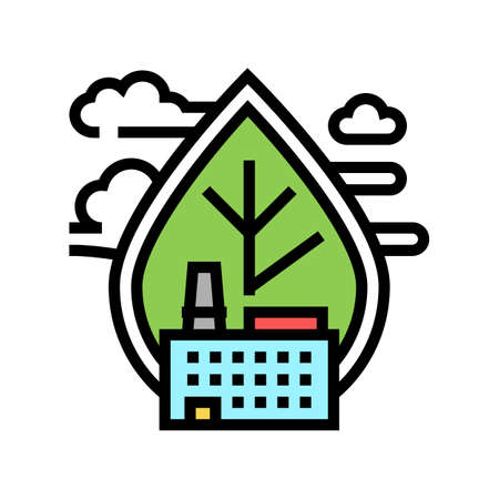air emissions and ambient air quality color icon vector. air emissions and ambient air quality sign. isolated symbol illustration