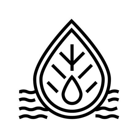 quality of waste water and surrounding water line icon vector. quality of waste water and surrounding water sign. isolated contour symbol black illustration