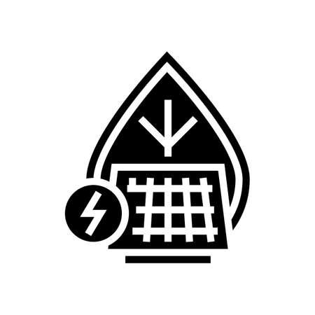energy saving glyph icon vector. energy saving sign. isolated contour symbol black illustration Ilustração Vetorial