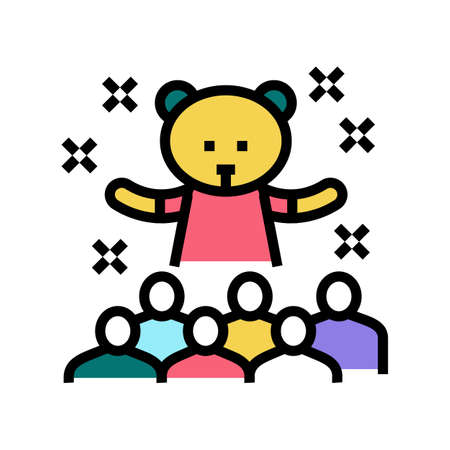 animator kids show color icon vector. animator kids show sign. isolated symbol illustration