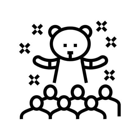 animator kids show line icon vector. animator kids show sign. isolated contour symbol black illustration