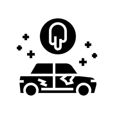 paint repair glyph icon vector. paint repair sign. isolated contour symbol black illustration