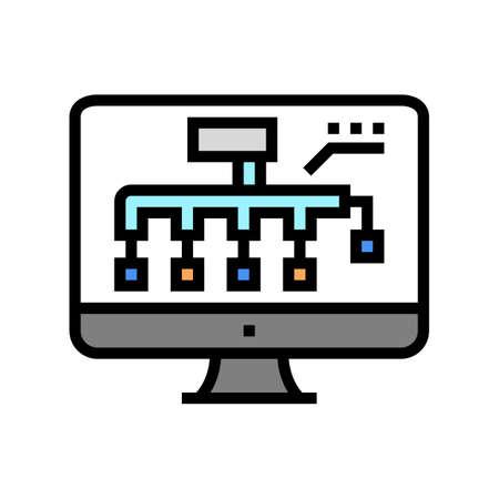 hvac layout design color icon vector. hvac layout design sign. isolated symbol illustration Vecteurs