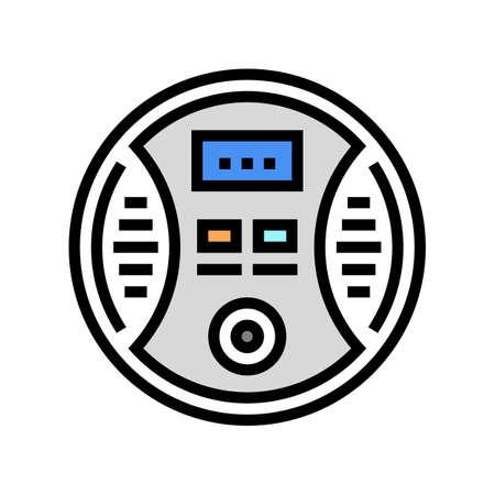 carbon monoxide detector color icon vector. carbon monoxide detector sign. isolated symbol illustration