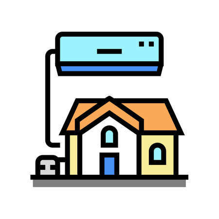 residential conditioning system color icon vector. residential conditioning system sign. isolated symbol illustration