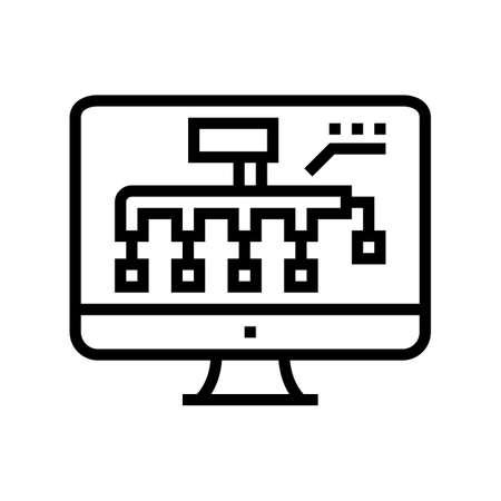 hvac layout design line icon vector. hvac layout design sign. isolated contour symbol black illustration Vecteurs