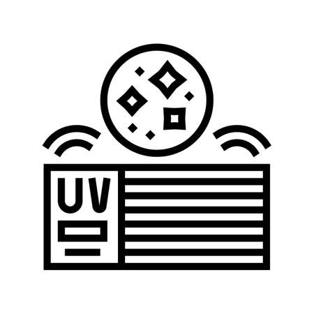 house air filtration system line icon vector. house air filtration system sign. isolated contour symbol black illustration