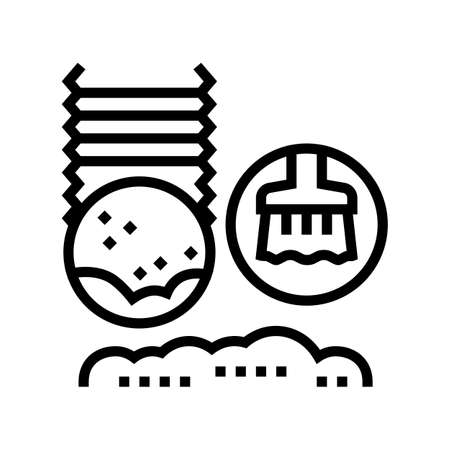 dryer vent cleaning line icon vector. dryer vent cleaning sign. isolated contour symbol black illustration Vecteurs